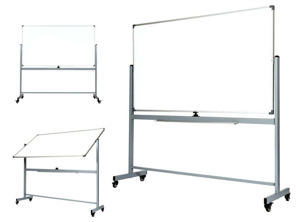 OfficeGenius Large Mobile 68x38 Magnetic White Board on Wheels with Stand, Double Sided Portable Dry Erase Whiteboard w/ Quick Flip Reversible Easel Feature