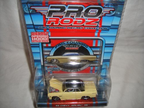 MAISTO 1:64 PRO RODZ PRO-TOURING COLLECTION YELLOW AND BLACK 1965 CHEVY MALIBU SS DIE-CAST COLLECTIBLE by Maisto