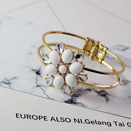 (Qingdao Foreign Trade jewelry fashion wild temperament exquisite Jaese and Korean style pierced flowers opening couple Bangle Bracelet)