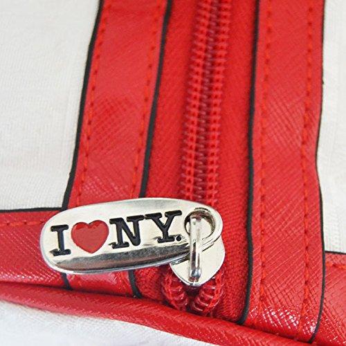 Borsa Bauletto I Love New York in Pelle con Tracolla Inclusa 31x23x19cm