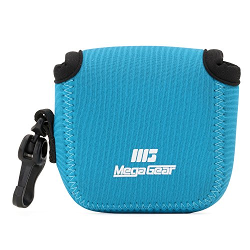MegaGear MG1312 GoPro Hero 7, Hero 6, Hero 5, Sony DSC-RX0 Ultra Light Neoprene Camera Case, with Carabiner - Blue