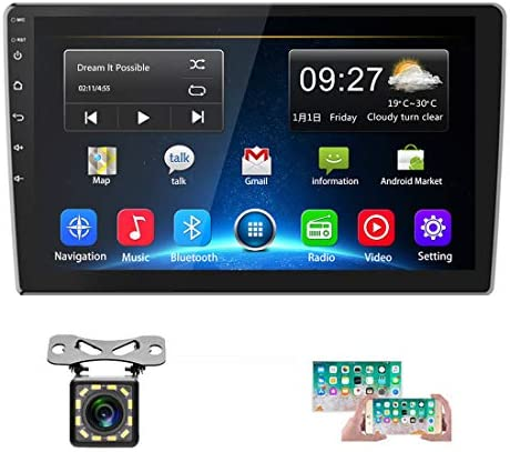 """Car Stereo Double Din Android 8.1 GPS Navigation Stereo 2G 32G Indash Head Unit 10"""" HD 1080P Touch Screen Car Radio Bluetooth WIFI FM Radio Receiver USB MP5 Player Mirror Link SWC+12 LEDs Rear Camera"""