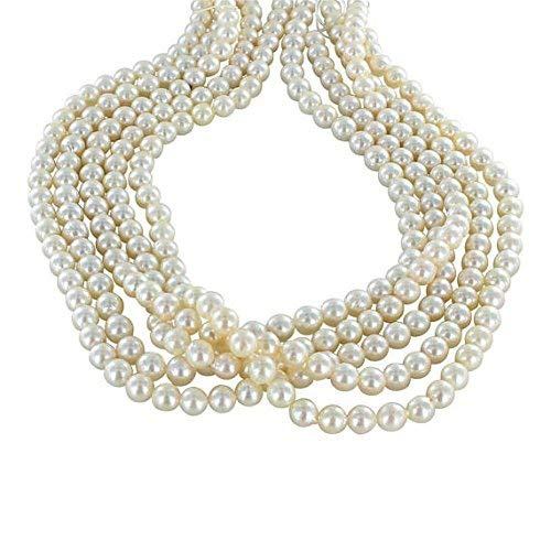 "Pearls Cultured 7mm Cream Baroque 16"" Strand by Gemswholesale"