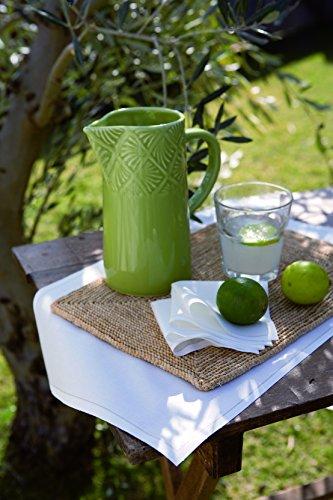 Cotton Cocktail Napkin - 4.5 x 4.5 in - 50 units per roll - Ecru by MYdrap (Image #5)