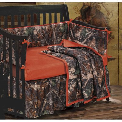 HiEnd Accents Realtree Oak Camo Crib Set by HiEnd Accents