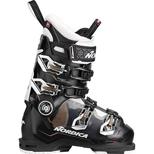 - Nordica Speedmachine 115 Ski Boot - Women's Tr Black/Black/White, 25.5