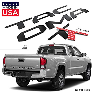 BDTrims Tailgate Raised Letters Compatible with 2016-2020 Tacoma Models (Black): Automotive
