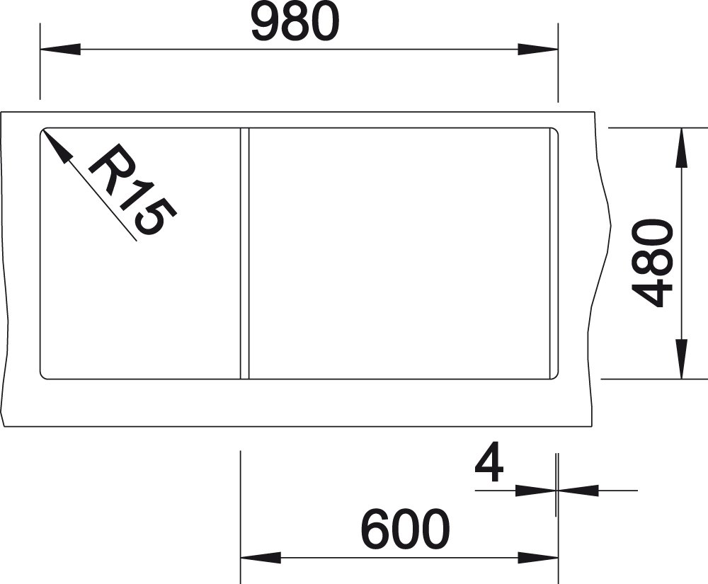 518630 Blanco ClassicLexa 6 S /Évier en Silgranit PuraDur Marron