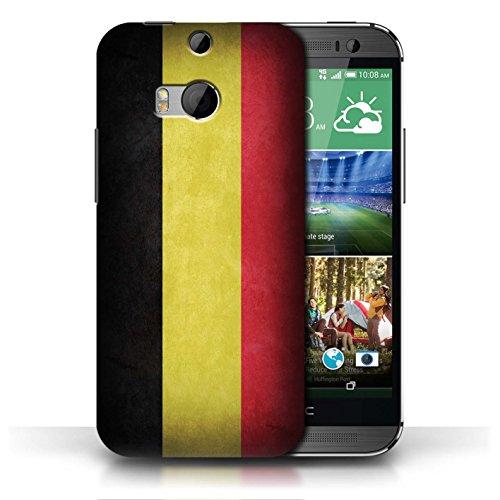 Etui / Coque pour HTC One/1 M8 / Belgique conception / Collection de Drapeau