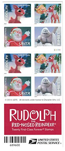 - Rudolph the Red-Nosed Reindeer USPS Forever Stamps, Book of 20