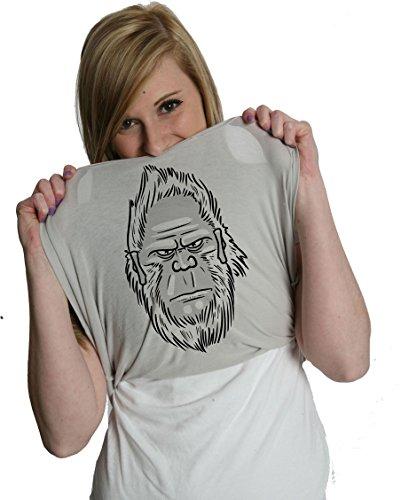 Has Women's Anyone Seen A Yeti? Turn Into A Yet Flip T Shirt Costume Tee (Grey) XL - Sasquatch Costume Cheap