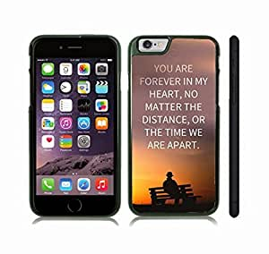 """iStar Cases? iPhone 6 Case with Inspirational """"If the only possible way we can be together is in my dreams, then I'll sleep forever"""" Flower Design , Snap-on Cover, Hard Carrying Case (White)"""