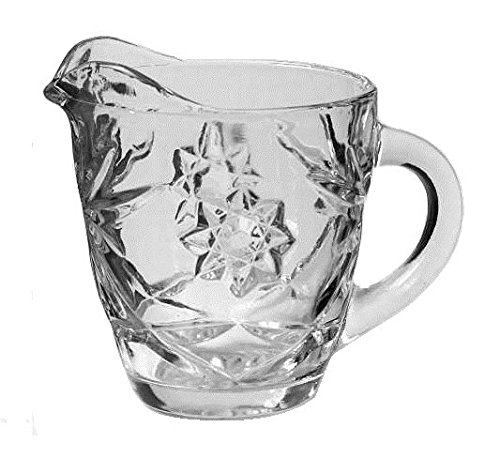 "Anchor Hocking Prescut Clear Glass ( 8 Oz / 3 1/2"" Creamer )"