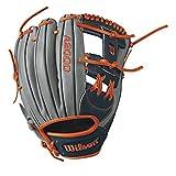 "Wilson A2000 Carlos Correa Game Model Infield Baseball Glove, Grey/Navy/Orange, 11.75"", Left Hand"