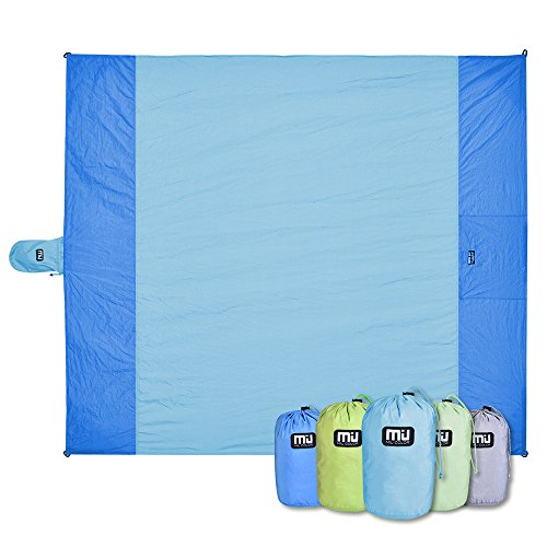 MIU COLOR Beach Blanket - Oversized 6.7x5.9 For 3-4 Adults,Compact,Quick Drying,Lightweight And Durable for Camping Hiking Grass Beach Travelling