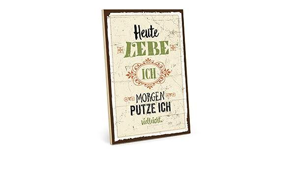 Type plástico Cartel de madera, diseño con texto - Hoy vivo ...