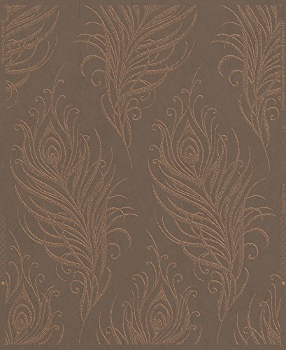 Graham & Brown 33-317 Quill Wallpaper, Copper by Graham & Brown