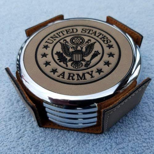 Home Bar Drink Coasters Personalized Coasters Custom Veterans Military Retirement Gift Wedding Coasters Promotion Gift Soldier Celebration military coasters