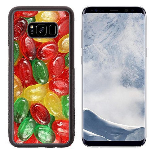 Luxlady Samsung Galaxy S8 Plus S8+ Aluminum Backplate Bumper Snap Case IMAGE ID: 25561969 Abstractness of colorful sweet - Nutrition Fun Cards Food