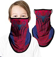 CUIMEI Kids Neck Gaiter Face Bandana with Ear Loops, Face Mask Scarf Face Cover for Boys Girls Children