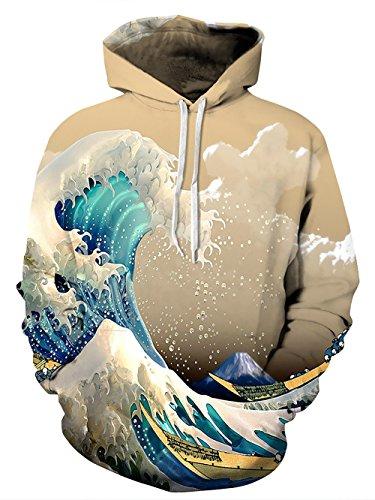 Zegoo Sublimation Orinting Trip Clothing Oversized -