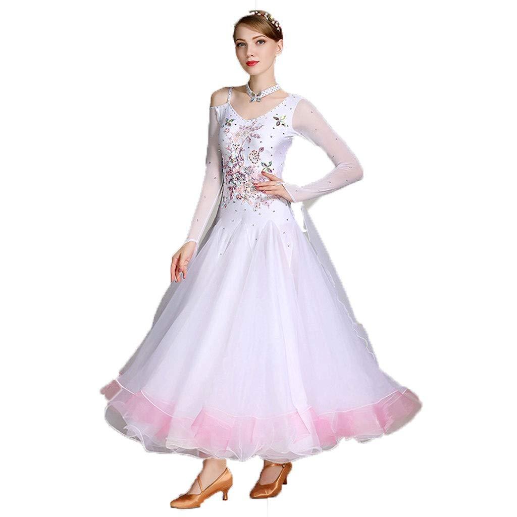人気が高い  成人女性長袖モダンダンスコスチュームパフォーマンスドレス B07PR4CHZ5 B07PR4CHZ5 白 M|白 M 白 M, カワウラマチ:a79cc467 --- a0267596.xsph.ru
