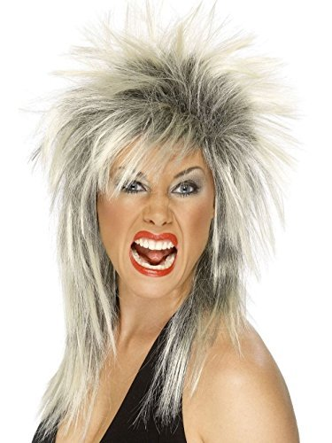 Uwant Fashion Rock Diva Wig Ladies 1980S Fancy Dress Punk Rocker Mullet Style 80S Wig by Uwant Fashion (Fancy Dress 80s Style)