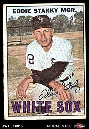 Amazoncom 1967 Topps 81 Eddie Stanky Chicago White Sox