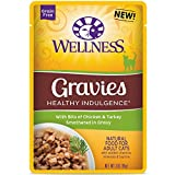 Wellness Healthy Indulgence Natural Grain Free Wet Cat Food, Gravies Chicken & Turkey, 3-Ounce Pouch (Pack Of 24) For Sale