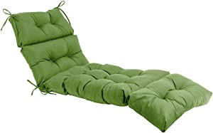 QILLOWAY Indoor/Outdoor Chaise Lounge Cushion,Spring/Summer Seasonal All Weather Replacement Cushions. (Dark Green)