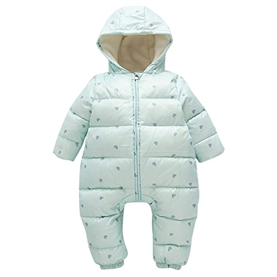 71597b0c9b0c1 Bebone Newborn Baby Duck Down Snowsuit Romper Kids Winter Coat Hooded  Outerwear  Amazon.co.uk  Clothing