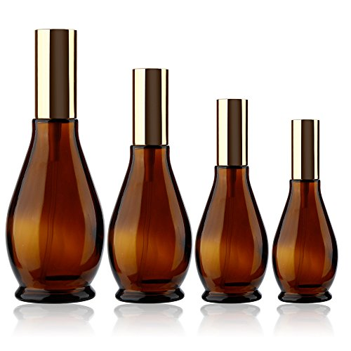 Flower Shaped Perfume Bottle - 1pcs Gourd shaped Empty Amber Glass Atomizer Perfume Bottle Cosmetic Sprayer