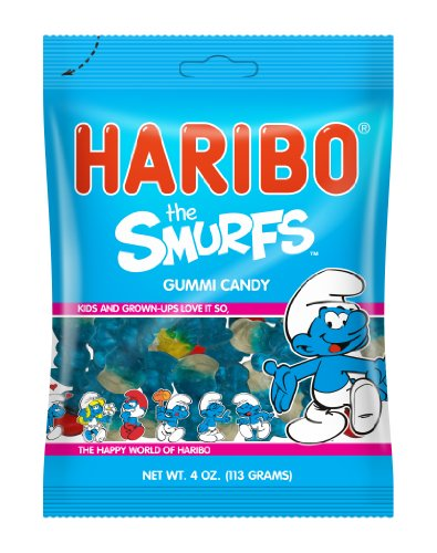 Haribo Candy, The Smurfs, 4 Ounce (Pack of 12)