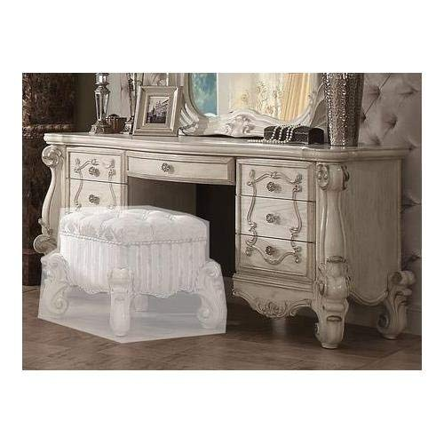 ACME Versailles Bone White Vanity Desk by Acme Furniture