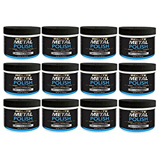 Rolite Metal Polish Paste (1lb) for Aluminum, Brass, Bronze, Chrome, Copper, Gold, Nickel and Stainless Steel 12 Pack
