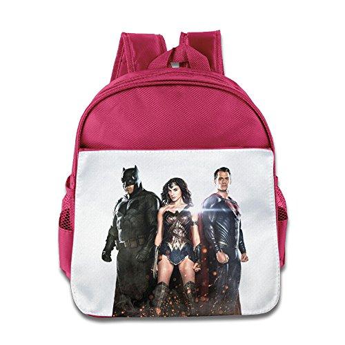 XJBD Custom Cute Bat Vs Super Trinity Boys And Girls School Bag For 1-6 Years Old Pink
