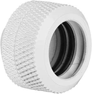 2 Pcs/Pack Water Cooling Compression Fitting with Three-Layer Sealing Rings for Rigid Acrylic Tube OD 14mm - Black, White, Sliver(White)