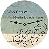 Cheap Personalized Who Cares Beach Time Clock