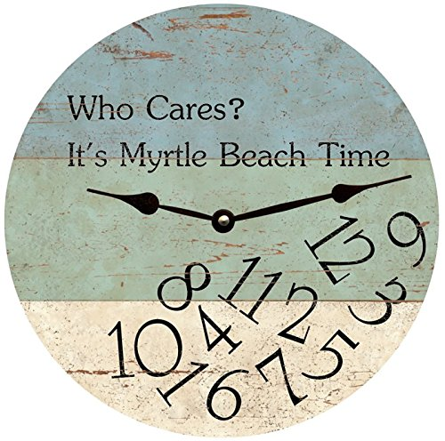 (Personalized Who Cares Beach Time Clock)