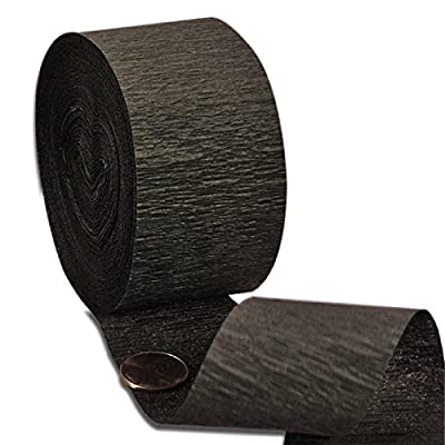 "2ea - 1 3/4"" X 70' Black Crepe Paper Streamer: Health & Personal Care"