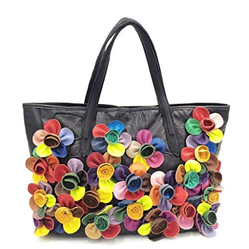 Sac à bandoulière une épaule Rxf Lady Fourre-tout à fleurs Flower Colorblock (couleur: 3, taille S.) 3
