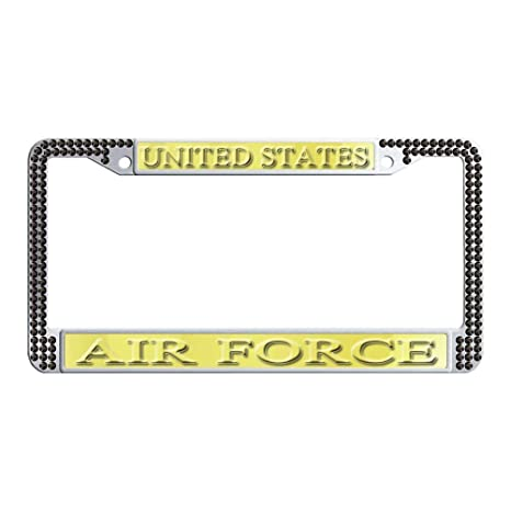 Amazon.com  DIY Finest 14 Facets SS20 Clear License Plate Frame black  Rhinestone Crystal U.S Air force  Automotive 45bad3187