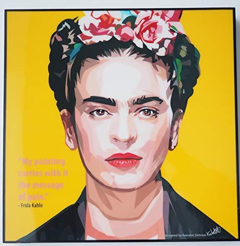 Glagoods Frida Kahlo Pop Art - Lienzo decorativo para pared, diseno con cita de Frida Kahlo