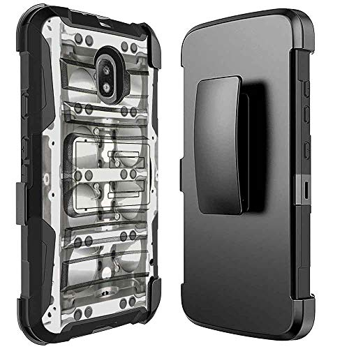 Galaxy J3 2018 Case, Galaxy J3 Star,J3 Archieve,Express/Amp Prime 3,J3 V 3rd Gen/J3 Orbit/J3 Aura/Sol 3 [NakedShield] Kickstand Holster Armor Case [Corvette Engine Block] for Samsung Galaxy - Engine Block Cases