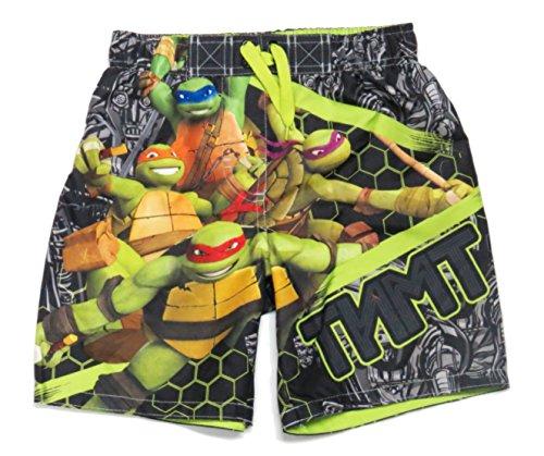 [Teenage Mutant Ninja Turtles Boys Swimsuit Trunks Shorts Size XS 4/5] (Ninja Turtle Suits)