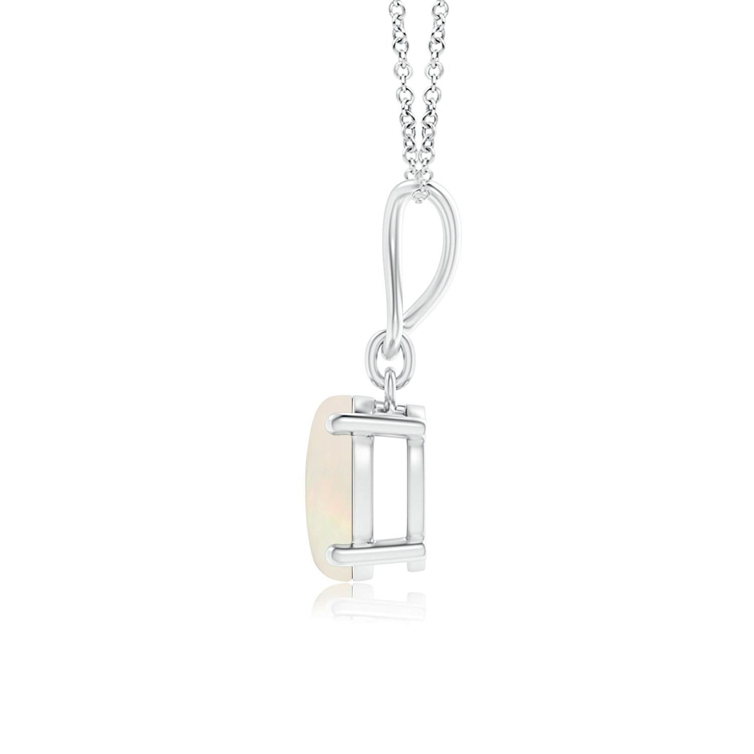 Solitaire Natural Oval Opal Infinity Drop Necklace Pendant Necklace for Women October Birthstone