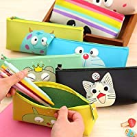 Jiada Silicon Cartoon Pencil Pouch Stationery Case | Birthday Return Gift | Set of 6 - Assorted Colours