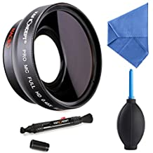 K&F Concept 58mm 0.45X Digital High Definition Film Coated Wide Angle Lens + Microfiber Cleaning Cloth + Air Blower for Canon Rebel T5i T3i XTi XS T4i T2i XT SL1 T3 T1i XSi EOS 1000D 600D 450D 100D 650D 700D 550D 400D 500D 300D 1100D and Nikon D7100 D5100 D3100 D300 D90 D70s D40x D3X D7000 D5000 D3000 D300S D80 D60 D3 D5200 D3200 D700 D200 D70 D40 D3S