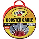 Pennzoil Jumper Cable 1 Gauge 25 Feet 500A Heavy Duty Battery Booster for Most Cars Trucks Vans SUVs - Includes Handy Travel/Storage Bag