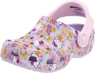 Crocs Hello Kitty Classic Clog (Toddler/Little Kid),Lavendar/Bubblegum,12-13 M US Little Kid